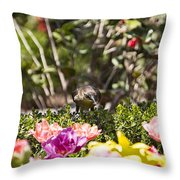 Tulips At Dallas Arboretum V47 Throw Pillow