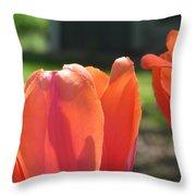 Tulips Backlit 2 Throw Pillow