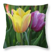Tulips - Caring Thoughts 03 Throw Pillow
