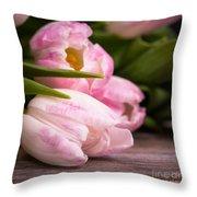Tulips Closeup Throw Pillow