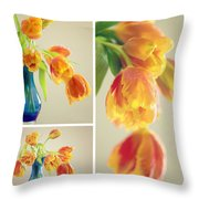 Tulips Collage Throw Pillow