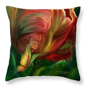 Tulips - Colors Of Paradise Throw Pillow
