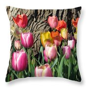 Tulips - Field With Love 07 Throw Pillow