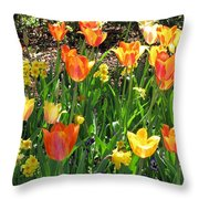 Tulips - Field With Love 41 Throw Pillow