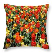 Tulips - Field With Love 51 Throw Pillow