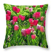 Tulips - Field With Love 54 Throw Pillow