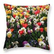 Tulips - Field With Love 57 Throw Pillow
