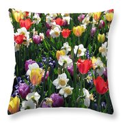 Tulips - Field With Love 58 Throw Pillow