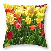 Tulips - Field With Love 65 Throw Pillow