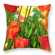Tulips - Field With Love 69 Throw Pillow