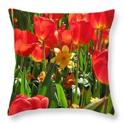 Tulips - Field With Love 71 Throw Pillow