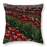 Tulips Fields Are Forever Throw Pillow