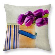 Tulips For Mom Throw Pillow