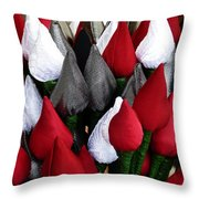 Tulips For Sale Throw Pillow