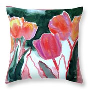 Tulips For The Love Of Patches Throw Pillow