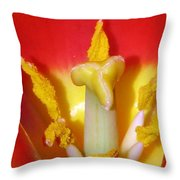 Tulips - Hearts Desire Throw Pillow