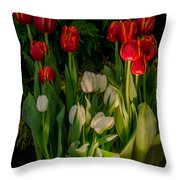 Tulips In Bloom Throw Pillow