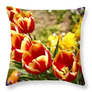 Tulips In Japan Throw Pillow