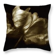 Tulips In Sepia Throw Pillow