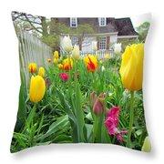 Tulips In Williamsburg Throw Pillow