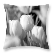 Tulips - Infrared 10 Throw Pillow