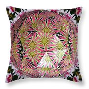 Tulips Kaleidoscope Under Polyhedron Glass Throw Pillow