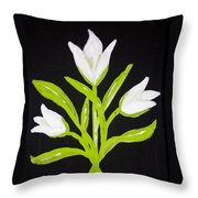 Tulips Throw Pillow by Melissa Dawn