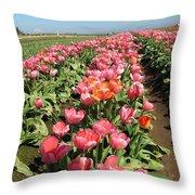 Tulips Mt Hood Throw Pillow