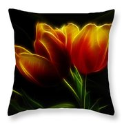 Tulips Of Light Throw Pillow