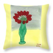 Tulips Of Love Throw Pillow
