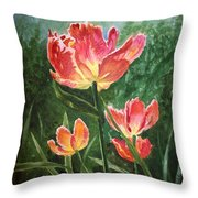 Tulips On Fire Throw Pillow