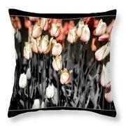 Tulips On Parade Throw Pillow