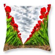 Tulips Part IIi Throw Pillow
