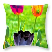 Tulips - Perfect Love - Photopower 2168 Throw Pillow