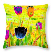 Tulips - Perfect Love - Photopower 2169 Throw Pillow