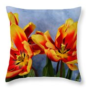Tulips Radiance Throw Pillow