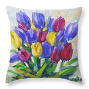Tulips Time Love The Spring By Prankearts Throw Pillow
