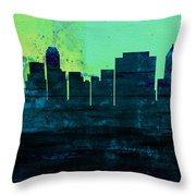 Tulsa City Skyline Throw Pillow