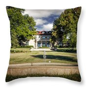 Tulsa Garden Center Throw Pillow by Tamyra Ayles