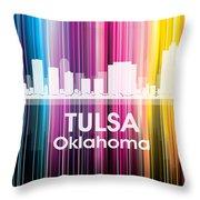 Tulsa Ok 2 Throw Pillow