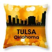 Tulsa Ok 3 Throw Pillow