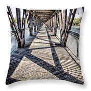 Tulsa Pedestrian Bridge Throw Pillow