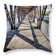 Tulsa Pedestrian Bridge Throw Pillow by Tamyra Ayles