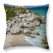 Tulum - Mayan Temple Throw Pillow