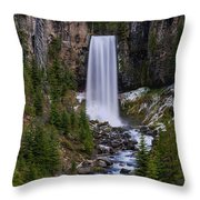 Tumalo Falls - Oregon Throw Pillow