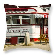 Tumble Inn Diner Claremont Nh Throw Pillow by Edward Fielding