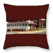 Tumble Inn Diner Claremont Nh Throw Pillow