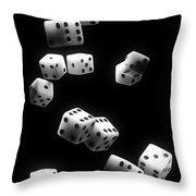 Tumbling Dice Throw Pillow