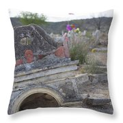 Tumbling Tombstone Throw Pillow