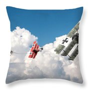 Tumult In The Clouds Throw Pillow
